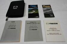 2002 MAZDA 626 OWNER MANUAL 6/PC.SET & BLACK MAZDA SPORTY ZIPPERED FACTORY CASE/