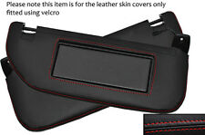 Red stitch 2x pare-soleil peau cuir couvre fits CITROEN DS3 2009-2014