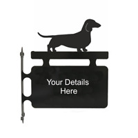 Dachshund Smooth Haired Dog Metal Personalised Hanging Sign