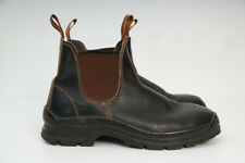 Blundstone 405 Chelsea Non-Safety Work Boots-Elastic Sided Brown Leather Sz 9