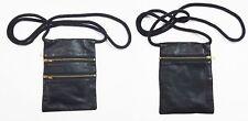 Nuevo Cuello De Viaje Negro 17.5 cm X 13.5 cm Cuero Billetera soporte de Dinero Cartera de pasaporte