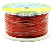 8 Gauge 100% OFC Red See Through Power Cable 20 Feet - FREE SAME DAY SHIPPING!