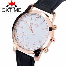 Reloj de cuarzo oktime Moda Cuero para hombre mujer de diseño simple leisure, business