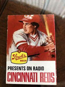 1978 Cincinnati Reds Baseball Schedule Stroh's Beer