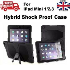 Tough Military Heavy Duty Silicone Rubber Stand Case Cover for iPad Mini 1 2 3
