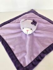 Tiddliwinks brand infant security blanket lavender and purple teddy bear lovey