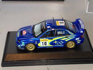 RALLY 1/43 IXO PRODRIVE SUBARU STI IMPREZA WRC TOMMI MAKINEN MONTE CARLO 2002