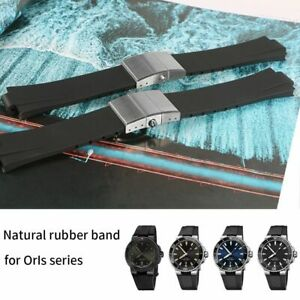 Fit for Oris AQUIS, 24*11mm Waterproof Rubber Silicone Watch Band Strap + Tools