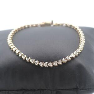 Herz Tennisarmband 750 Gold 0.40 Ct Brillant 18 Kt Reviere Diamant Wert 2200,-