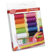 Gutermann Sew All Thread Set + Measuring Tape - 10 Reels Assorted Colours