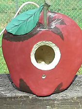 Apple - shaped birdhouse (red / clay-ceramic)