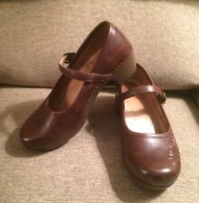 Women Dansko Savanna Brown Leather Embossed Mary Jane Clog  40 9.5/10