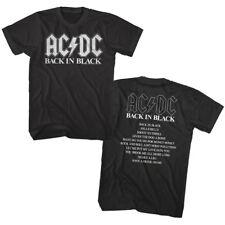 ACDC Back in Black Album Cover Men's T Shirt Rock Band Vintage Tour Music Merch