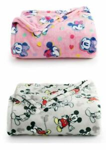 "New Disney The Big One Disney Minnie Mouse Mickey Mouse Throw Blanket 60""x72"""