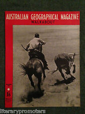 WALKABOUT MAGAZINE VOLUME 14 NUMBER 1 1947 Musgrave Ranges Cattle Walk About VG