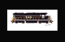 "Chicago & Eastern Illinois GP30 #240 11""x17"" Matted Print Andy Fletcher signed"