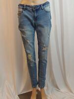 Womens Jeans Maurices Distressed Stretch Zip Up Size Small Reg Cotton Blend