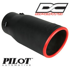 "DC Sports Bolt On Stealth Series Black Series Exhaust Muffler Red Tip 3 75"" x 9"""