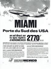 Publicité Advertising 127  1980  AeroMexico compagnie aérienne Miami
