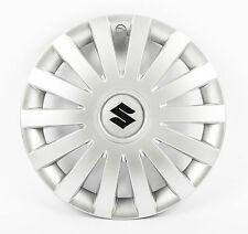 "New Genuine Suzuki Swift 2005-2016 rueda Adornos Recortar 15"" Silver Conjunto de 4 G37"