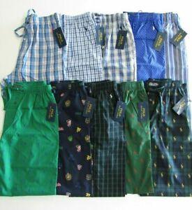 Polo Ralph Lauren Mens Pajamas Lounge Pants Sleepwear Pony All Over Plaid Nwt