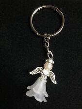 Guardian Angel Fairy With Rhinestone Halo Heart Wings Keyring