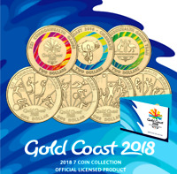 2018  XXI Commonwealth Games  UNCIRCULATED 7 Coin Collection Set