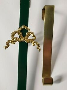 Wreath Holders Lot of 2 Over The Door Brass & Green Quality Made in USA 🌼⭐