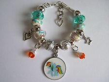 Turquoise Acrylic Costume & Charm Bracelets