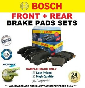 BOSCH FRONT + REAR Axle BRAKE PADS SET for SEAT IBIZA ST 1.6 TDI 2010->on