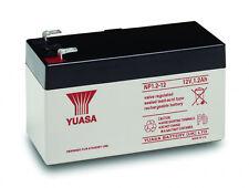 YUASA 12V 1.2AH (1.3AH) Rechargeable Battery Fire & Burglar Alarm Security