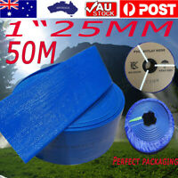 50M 1 Inch 25mm PVC Layflat Hose Water Pump Transfer Lay Flat  Outlet Discharge