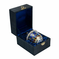 More details for benjarong china jar with lid in silk gift box
