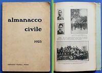 Storia Contemporanea - Almanacco Civile 1923 - RARO