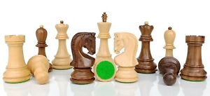 "Russian Zagreb Chess Pieces Set King 4"" Weighted 2 Extra Queens"