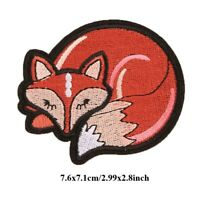DIY Fox Embroidery Sew On Iron On Patch Cute Fabric Applique Craft Badges Sticke