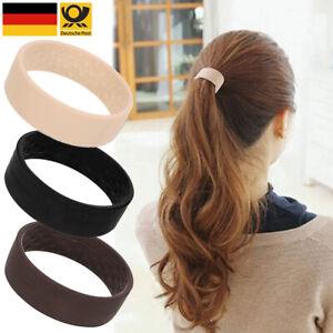 3 Stück Haargummis Wide Clip Haarband Pferdeschwanz Zopfgummi Silikon Hair Tie