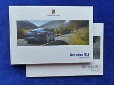 Porsche 911 Carrera Typ 991 MJ 2012 - Hardcover Prospekt + Preisliste 09.2011