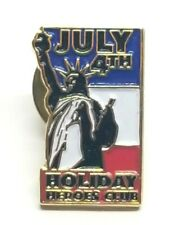 July 4th Holiday Heroes Club Patriotic Collectible Lapel Pin Statues of Liberty