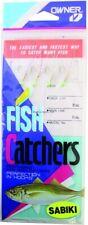 Owner 5536-057 Sabiki Mackerel Fish Skin 4Hks 1Pk Sz8 Gld W/Mackerel Skin