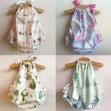 Newborn Infant Baby Girl Cotton Romper Bodysuit Jumpsuit Outfits Sunsuit Clothes