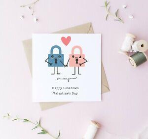 Personalised Lockdown Valentines Day Card Husband Wife Boyfriend Girlfriend pun