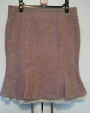 Falda corta de invierno señoras de la parte de lana talla 8