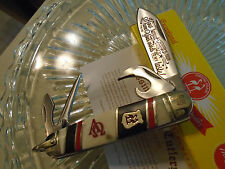 Kissing Crane Limited Alpha & Omega Scout Hobo 4 Blade Bone Pocket Knife 5340
