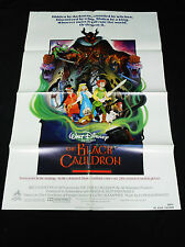 THE BLACK CAULDRON 1985 * WALT DISNEY ANIMATED ADVENTURE * MINT UNUSED ONE SHEET