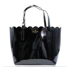 NWT KATE SPADE NEW YORK Lily Patent Carrigan Enamel Shiny Scallop Black WKRU5265
