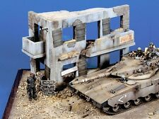 "Verlinden 1/35 ""Middle East Ruin"" 2-Story House Section w/Balcony [Diorama] 99"