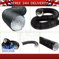 "Combi PVC 5m 10m Ducting Duct Hydroponic Ventilation 4"" 5"" 6"" 8"" 10"" 12"" inch"