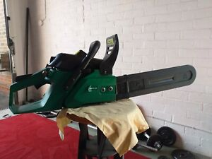 Gardenline petrol chainsaw fully working and tested starting, running and idling