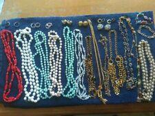 necklaces, bracelets, Monet, Napier etc Lot of vintage costume jewelry earrings,